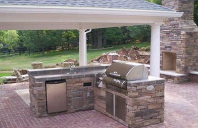 Outdoor kitchens kushners garden patio for Ready made outdoor kitchen